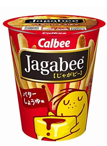 吃货囤起来!Jagabee卡乐比薯条三兄弟 黄油酱油味道40g*12杯