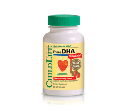 儿童DHA海淘:ChildLife 纯天然DHA咀嚼胶囊90粒装