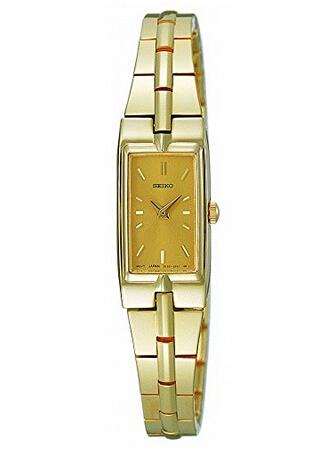 美亚好价!Seiko 精工 女士水晶金色时装腕表