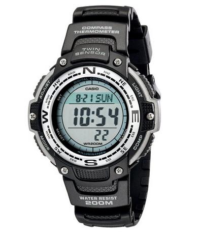 白菜价了!CASIO 卡西欧 SGW100-1V 双重感应 男士运动手表