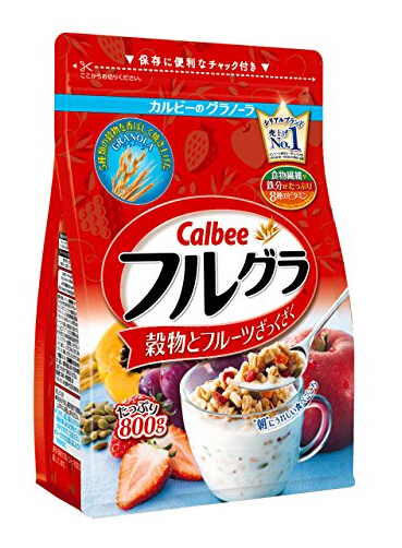 补货降价新低!日亚销量第一!Calbee卡乐比水果果仁谷物营养麦片800g×6袋