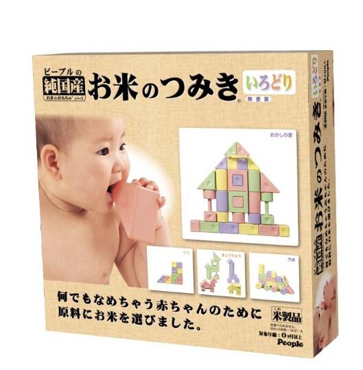 日亚好价!日本people纯大米造幼儿益智玩具积木