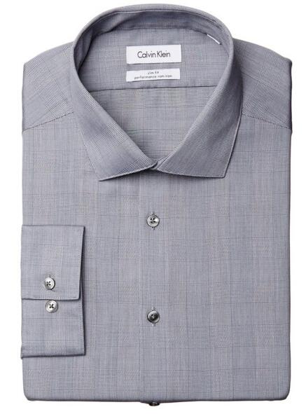 直邮新低价!Calvin Klein 男士纯棉免熨长袖衬衫