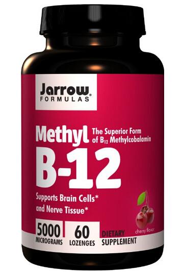下单7折!Jarrow Formulas Methyl B12 杰诺甲基维生素B12,60粒
