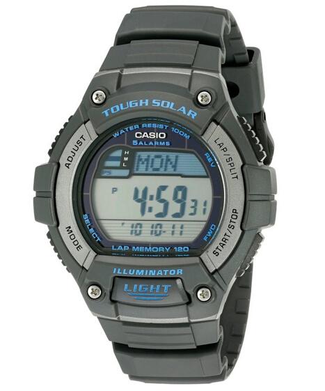 再降1刀刷新低!CASIO 卡西欧 W-S220-8AVCF 男士太阳能手表