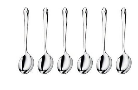 历史低价!WMF完美福 Juwel Round Soup Spoons 汤匙6件套