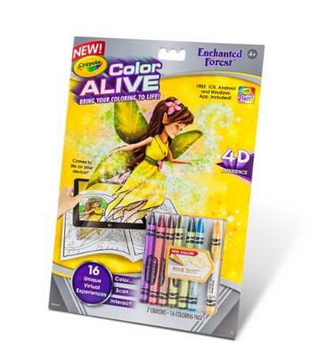 美亚直邮好价!Crayola 绘儿乐 Color Alive Crayon 仙女森林系列画笔