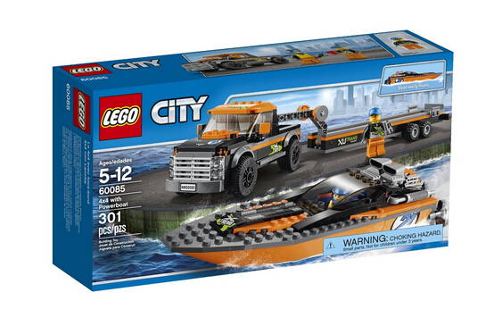 历史新低!LEGO 60085 乐高城市系列之赛艇运输车