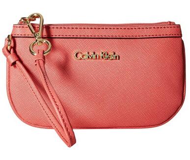 直邮白菜价!Calvin Klein SaffiaNo 女士真皮手拿包