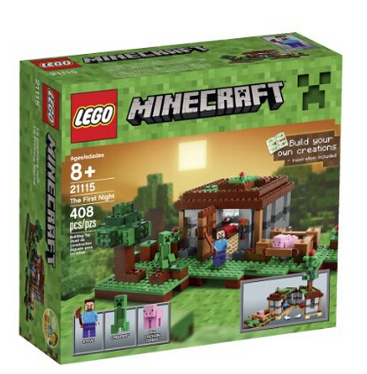 美亚好价!LEGO 乐高 我的世界系列之初夜 沙盒建造积木