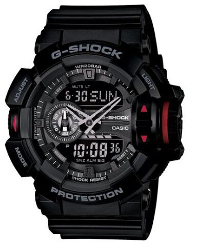 经典大表盘!CASIO卡西欧 G-SHOCK GA-400-1BJF 男士手表