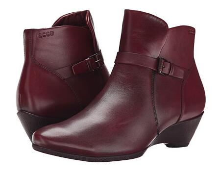 可以送老妈!6PM新低!ECCO 爱步雕塑系列女士坡跟短靴