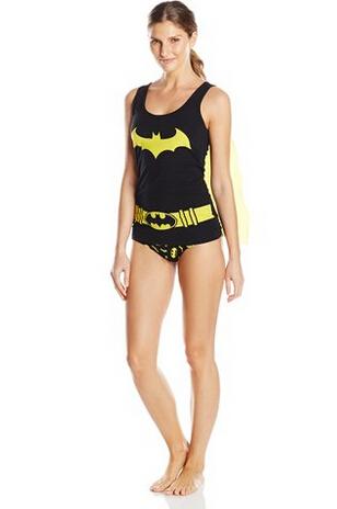 限尺码好价!DC Comics 蝙蝠侠女士睡衣套装