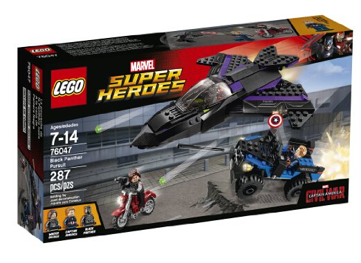 乐高76047海淘!LEGO 76047 《美国队长3 内战》黑豹追逐战