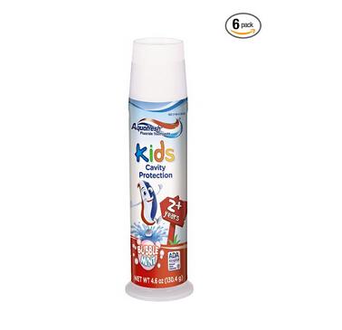 好价再来!Aquafresh Kids Toothpaste 儿童立式含氟牙膏(6支装)