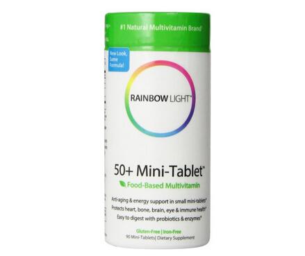 送父母保健品海淘!Rainbow Light 润泊莱50岁以上综合营养片90粒