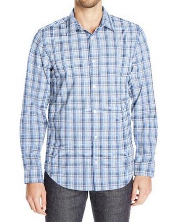 码全,新低可直邮!Calvin Klein 男士纯棉免熨长袖衬衫