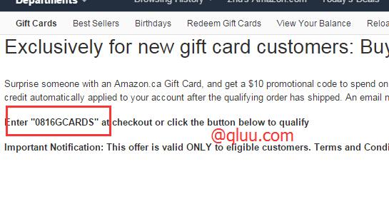美国亚马逊充50送10!美亚9月满送礼品卡活动