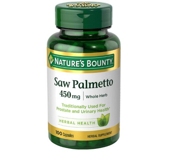 美亚凑单好价!前列腺保健品,Nature's Bounty 自然之宝锯棕榈复合胶囊450mg*100粒