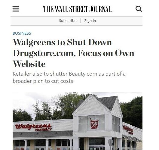 Drugstore关闭