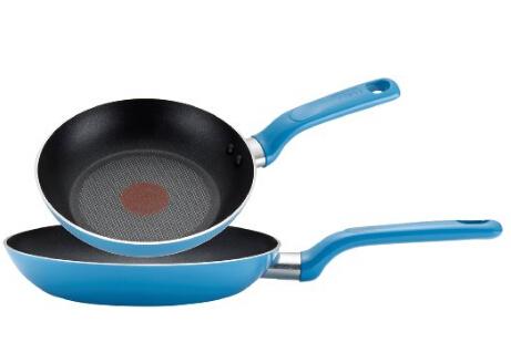 美亚直邮新低!T-fal C512S2 特福带火红点不粘煎锅2件套( 8寸、10寸 )