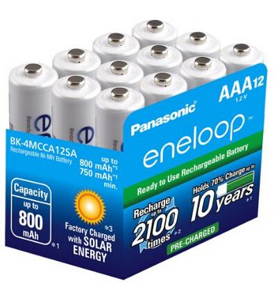 直邮新低价!eneloop 爱乐普 BK-4MCCA12BA 高性能 镍氢充电电池 12只装