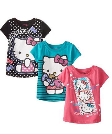 限尺码新低价!Hello Kitty 凯蒂猫 Value 女童短袖3件套