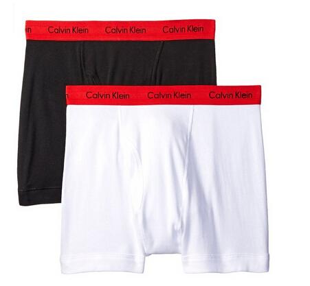 越大越便宜!Calvin Klein 男士平角内裤2条装