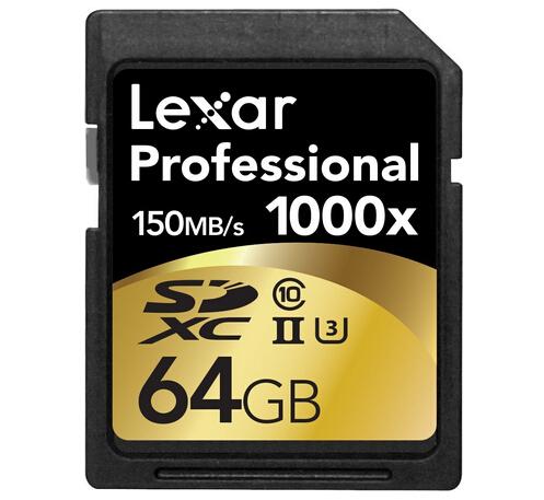 美亚凑单!Lexar 雷克沙 1000X SDXC UHS-II存储卡64GB*2只
