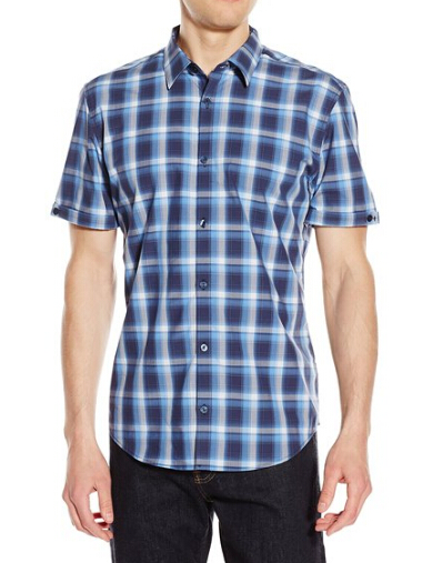 美亚直邮!Calvin Klein 男士短袖纯棉休闲衬衫