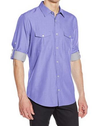 三色新低可直邮!Calvin Klein 男士长袖休闲衬衫