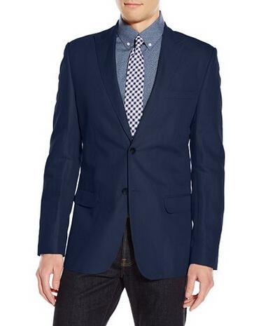 降至新低!Calvin Klein 男士亚麻休闲西装外套