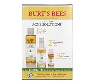 金盒特价!Burt's Bees 小蜜蜂战痘3件套清痘夫调理套装
