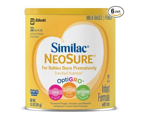 Bug价吗?白菜价!Similac 雅培早产婴儿1段专用奶粉含铁配方奶粉371g*6盒