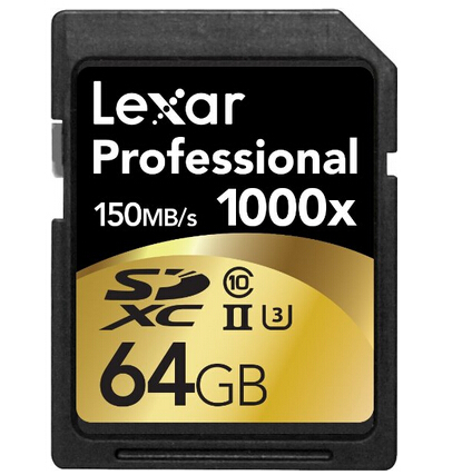 直邮白菜价!Lexar 雷克沙 Professional 1000x 64GB SDXC UHS-II 高速SD卡