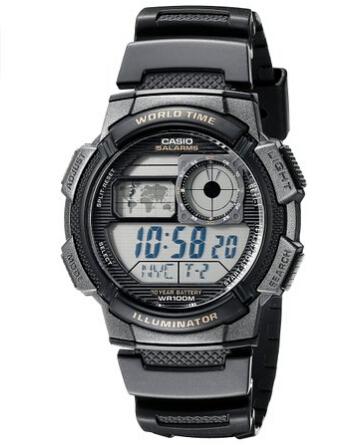 直邮好价!CASIO 卡西欧 AE-1000W-1AVDF 男士运动手表