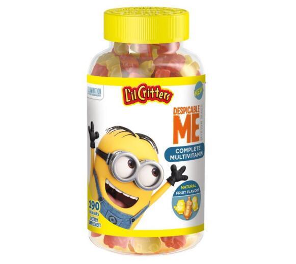 凑单新低!L'il Critters 小黄人版小熊糖儿童多种维生素软糖190粒