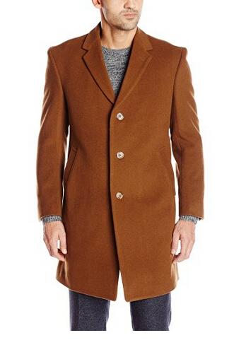 美亚好价!Tommy Hilfiger 男士单排扣羊绒羊毛混纺大衣