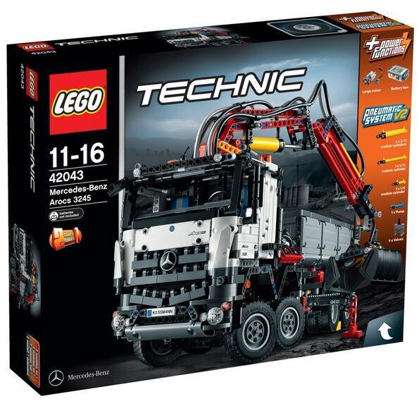 the hut 海淘推荐!LEGO 乐高 42043 梅赛德斯-奔驰卡车