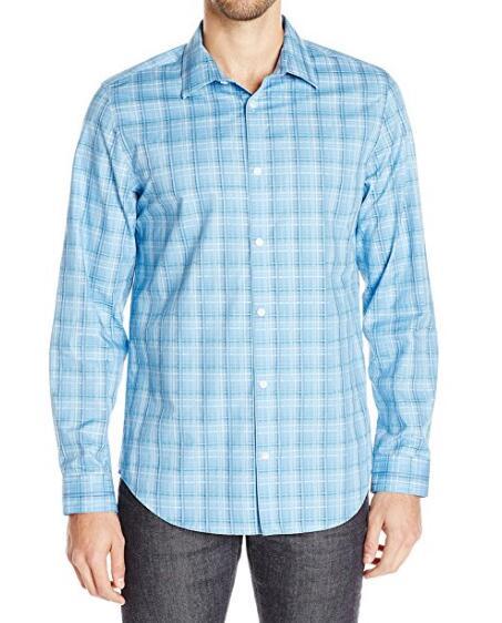 新低价可入!Calvin Klein 男士纯棉免熨长袖衬衫