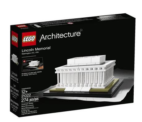 海淘新低!LEGO Architecture 21022 乐高建筑系列林肯纪念堂