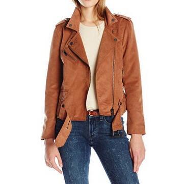 码全新低!Calvin Klein Jeans 女士经典机车夹克
