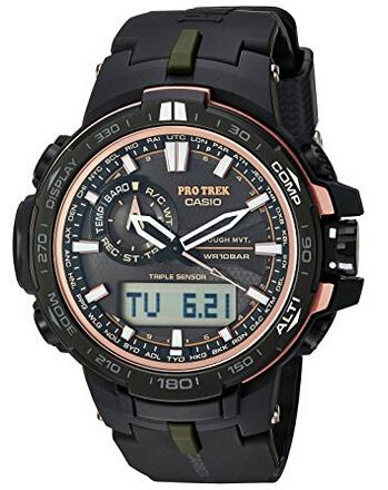 下单7折!CASIO 卡西欧 S6000Y-1CR 登山系列 6局电波太阳能手表