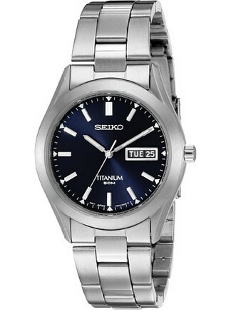 黑五8折码新低价!SEIKO 精工 SGG709 Titanium Case and Bracelet 男士钛金属表