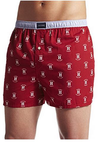 额外7折!Tommy Hilfiger 汤米·希尔费格 Logo Boxer 男士纯棉印花平角内裤