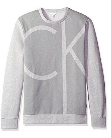 下单7折!Calvin Klein 卡文克莱 Color Block Ck Logo 男士长袖圆领卫衣