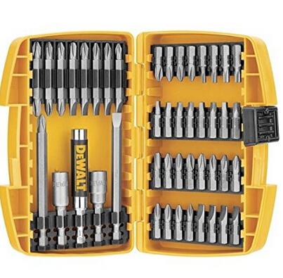 凑单新低价! DEWALT DW2166 45件套电钻螺丝刀头