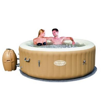 游泳趴!Bestway SaluSpa 棕榈泉 充气热水浴缸