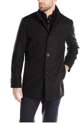 美亚直邮新低!KENNETH COLE New York Wool-Blend 男款羊毛混纺大衣