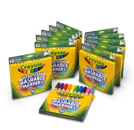 美亚海外购新低!Crayola 绘儿乐10色粗头水彩笔*12盒